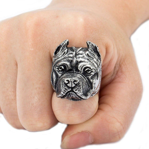 My Pitbull Bulldog Stainless Steel Ring - My