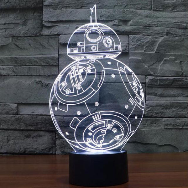 Death💀 Star⭐️Hologram LED Lamp💡 😡💜❤️️😈
