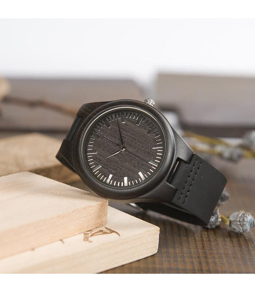 Wooden Watch - Dad To Son To My Son Suddenly A Man Carry You In Arms In Heart Proud Of Man You Become Proudest You Are My Son Engraved Wooden Watch Gift