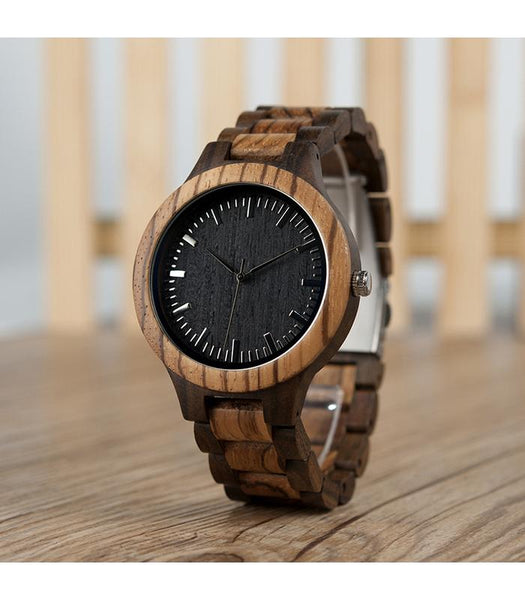 Wooden Watch - Dad To Son To My Son Wish You Strength To Face Challenges With Confidence Wisdom To Choose Battles Carefully Engraved Wooden Watch