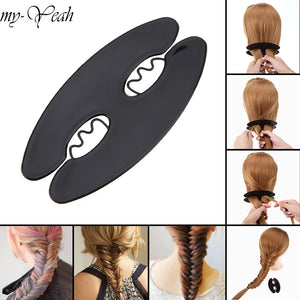 Fishtail braid tool