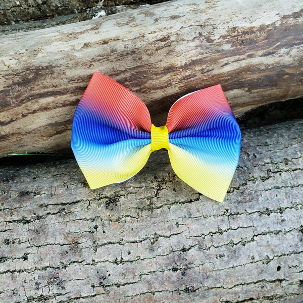 Ombre yellow blue red [huge bowtie]
