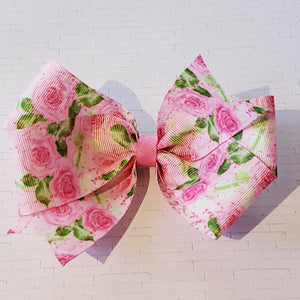 Pink Floral Script [Medium Looped] Double Sided