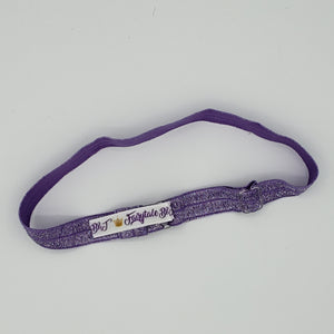Purple Glitter adjustable Headband