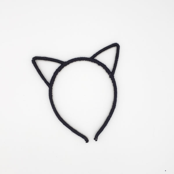 Black [yarn wrapped] cat ear headband