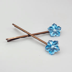 Light blue flower [Bobby pin]