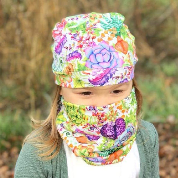 Succulent Hat and Snood Set