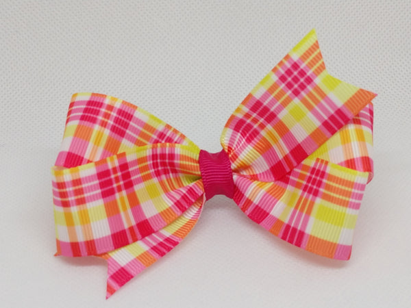 Pink Limeade [Small Loop] Spring Plaids