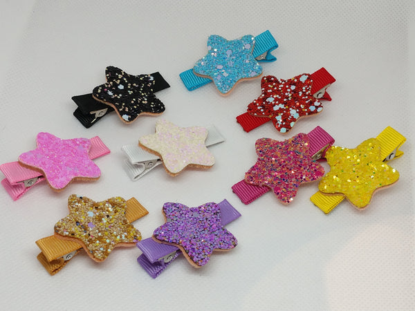 Glitter Star Clippies