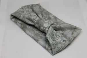 Grey Floral Sugar and Spice Headband