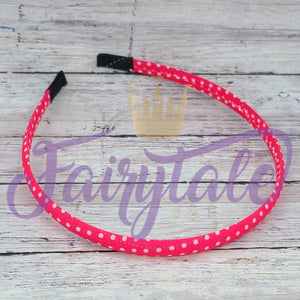 Pink Dot Snap Resistant Headband