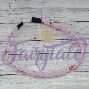 Purple Floral Snap Resistant Headband