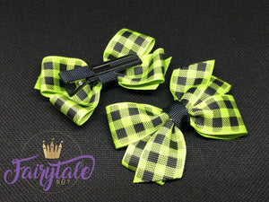 Plaid Piggy - Green
