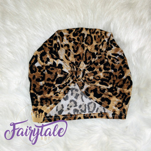Animal Print Bow Turban