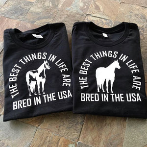 The Bred In The USA Long Sleeve Tee (Choose Your Breed Logo)