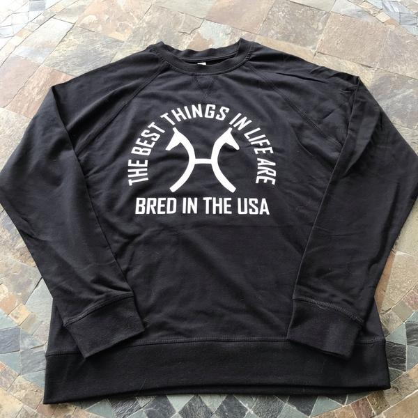 The Bred In The USA Sweatshirt (Choose Your Breed Logo)