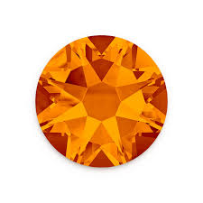 Swarovski® Round Flat Back - Tangerine - Haus of Bling International