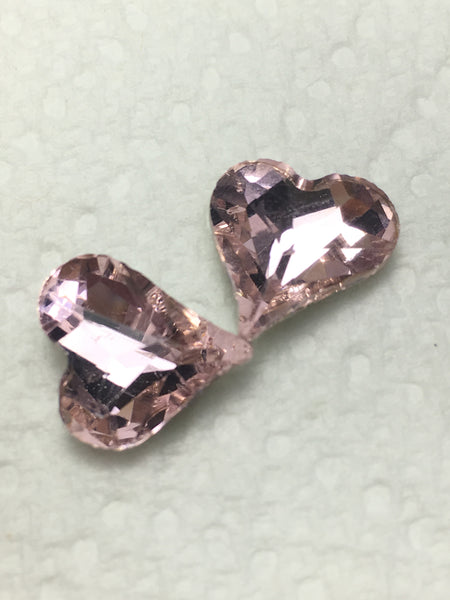 HOB® Slanted Hearts Point Back Resin Rhinestone - Haus of Bling International