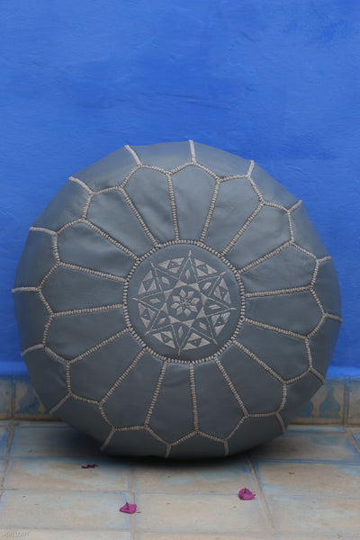 Moroccan Ottoman Pouf Marrakesh Poufs Gery Chefchaouen Handcrafted Leather