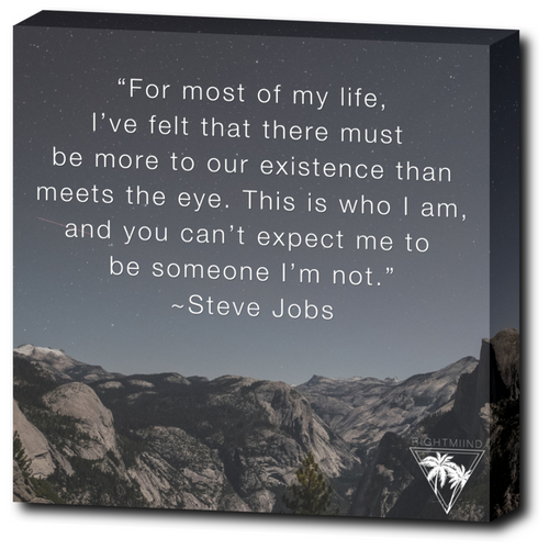 Steve Jobs Existence Canvas Wrap 12x12