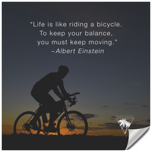 Albert Einstein Bicycle Canvas Poster 16x16