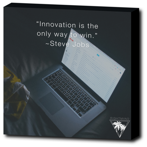 Steve Jobs Innovation Canvas Wrap 12x12