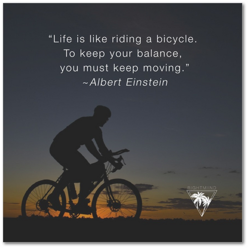 Albert Einstein Bicycle Canvas Poster 12x12