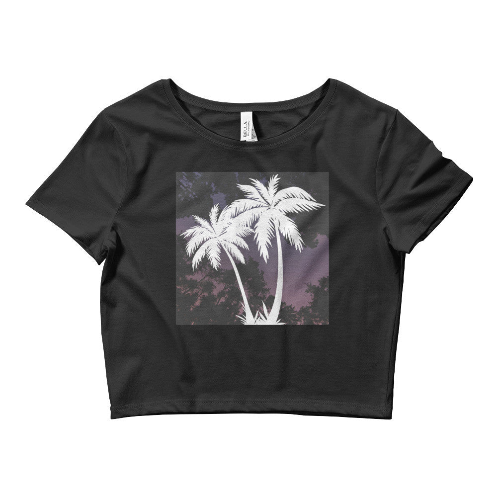Palm Trees v2 Women's Crop Tee