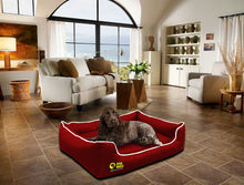 Dog Doza - Waterproof Memory Foam Settee in Red