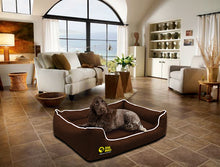 Dog Doza - Waterproof Memory Foam Settee in Brown