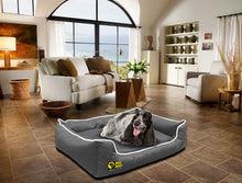 Dog Doza - Waterproof Memory Foam Settee in Grey