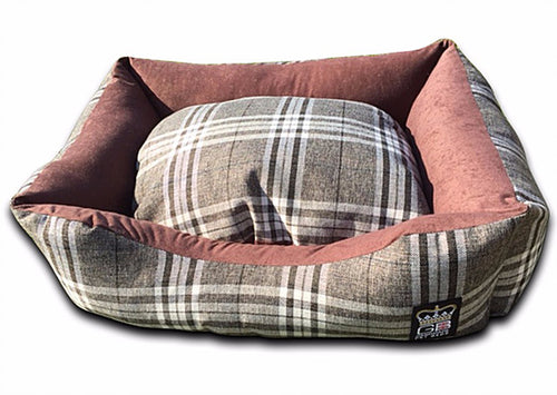 Classic Settee Country Check Range - Chatsworth Nutmeg