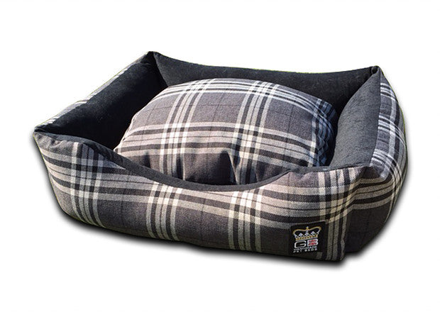 Classic Settee Country Check Range - Balmoral Charcoal