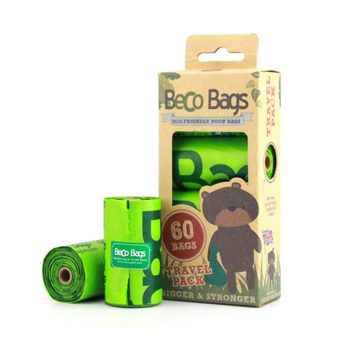 Beco Poo Bags Travel Pack of 60 - unscented