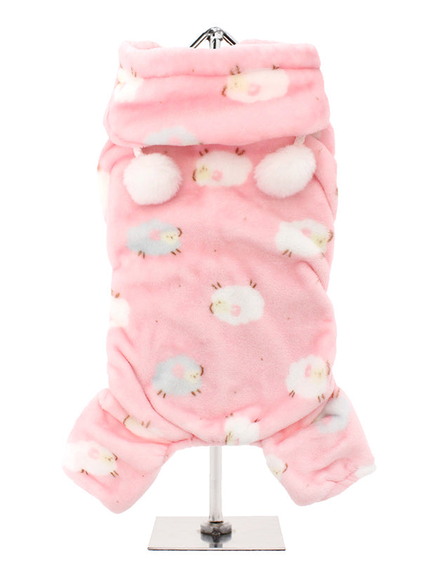 Smiley Myley our new Super Soft and Plush & Fluffy Baby Pink Counting Sheep Onesies from Urban Pup