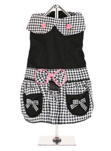 Black Gingham Dress & Matching Lead for Dogs from Smiley Myley