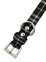 Black & White Tartan Fabric Collar & Lead Set