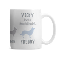 Personalised Border Collie Dog Breed Mug