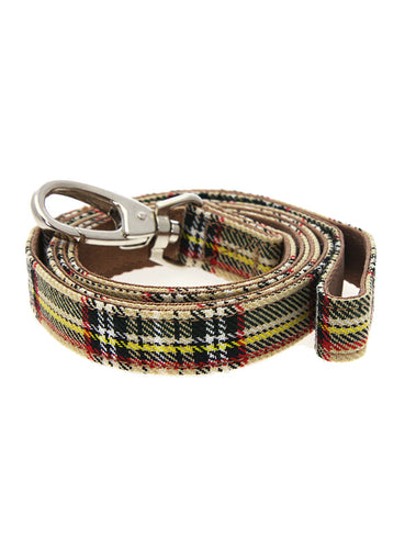 Brown Tartan Fabric Lead