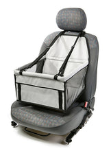 Black and Grey Car Seat Dog Cradle for your pet dog from Smiley Myley