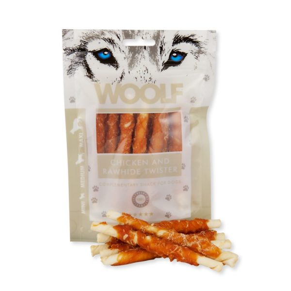 Woolf - Chicken and Rawhide Twister 100g
