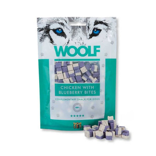 Woolf Chicken with Blueberry bites are made of 100% high quality protein sources for Smiley Myley