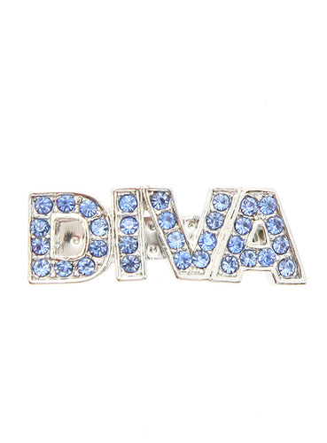 'DIVA' Swarovski Blue Crystal Hair Clip / Dog Barrette