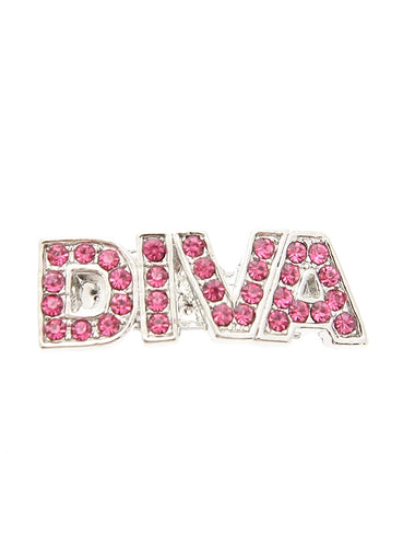 'DIVA' Swarovski Pink Crystal Hair Clip / Dog Barrette