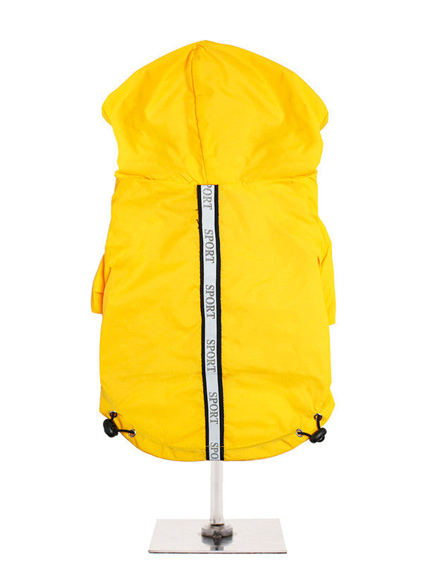 Here at Smiley Myley comes this lightweight windbreaker yellow sport jacket
