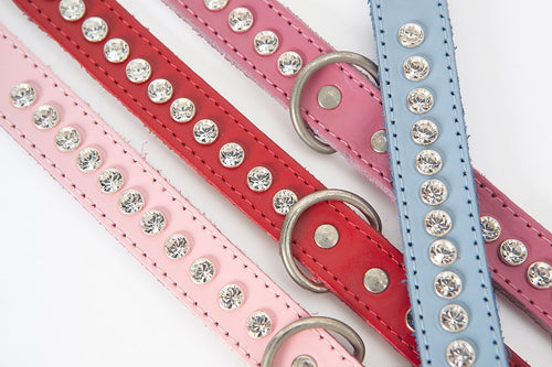 Dogue - Leather Glamour Crystal Collar Collection