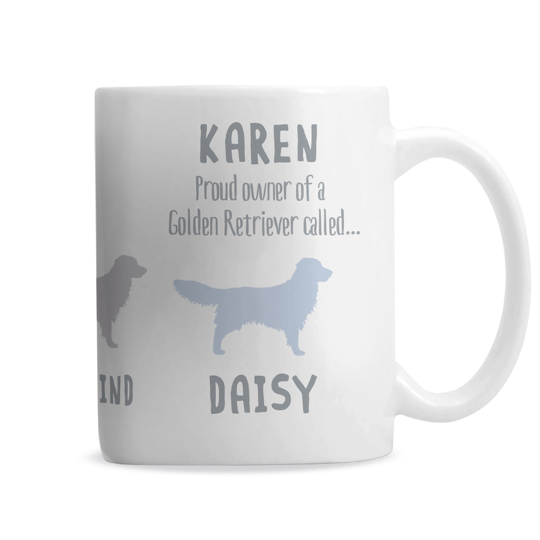 Personalised Golden Retriever Dog Breed Mug