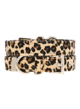 Leopard Print Fabric Collar & Lead Set