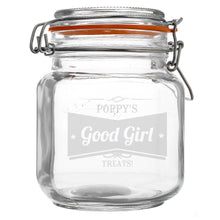 Retro Label Glass Clip Top Jar for your furry friend, ideal for treats and snacks for your dog