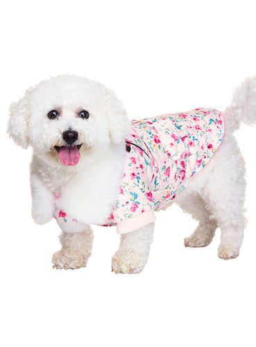 Pink Floral Cascade Coat for Dogs by UrbanPup from Smiley Myley